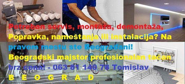 Beogradski majstor profesionalan tačan brz cena