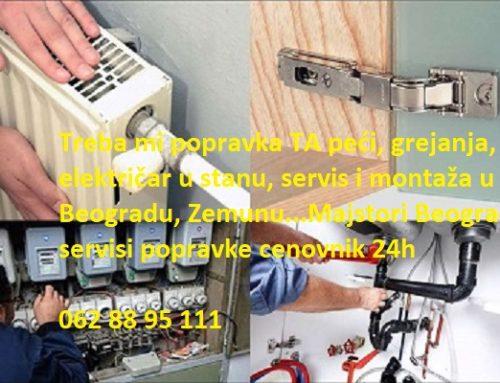 Majstori Beograd servisi popravke cenovnik