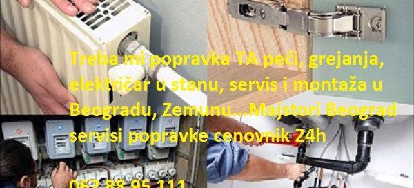 Majstori Beograd servisi popravke cenovnik 24h